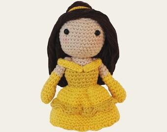 Belle - Disney Princess. Beauty and the Beast, Wall Disney, Amigurumi Pattern PDF, DIY, Crochet Pattern, Nursery, Gift, Instant download