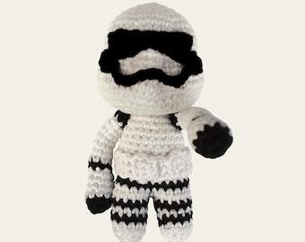Stormtrooper - Star Wars. Amigurumi Pattern PDF, DIY, Crochet Pattern, First Order, Soldier, Doll, Geek, Gift, Cinema, Instant download