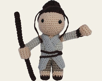 Rey - Star Wars. Amigurumi Pattern PDF, DIY, Crafts, Crochet Pattern, BB8, The Force Awakens, Daisy Ridley, Geek, Gift, Instant download