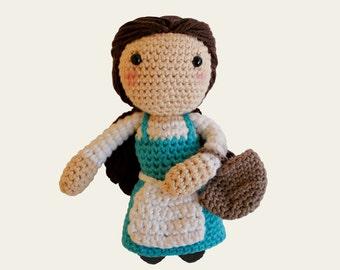 Peasant Belle - Disney Princess. Beauty and the Beast, Wall Disney, Amigurumi Pattern PDF, DIY, Crochet Pattern, Nursery, Gift, Digital File