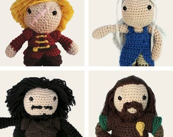 Game of Thrones Pack: Tyrion Lannister, Daenerys, Jon Snow & Ned Stark. Amigurumi Patterns, PDF, DIY, Crafts, Crochet, Geek, Gift, TV Series