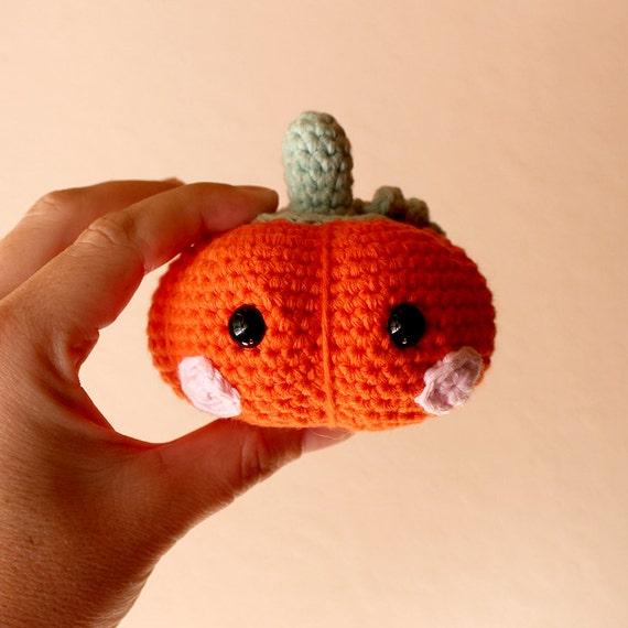 Baby Pumpkin Toy. Halloween Decor, Orange Decorative Art, Cute Gift, Crochet, Home Decor, DIY, Amigurumi Toy, Handmade, Made to Order