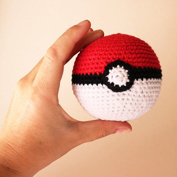 Poke Ball - Pokemon. Amigurumi Toy, Nerd Toy, Pokeball, Geek, Cute Children Gift, DIY Crafts, Pokemon Go, Crochet Ball, Made to Order