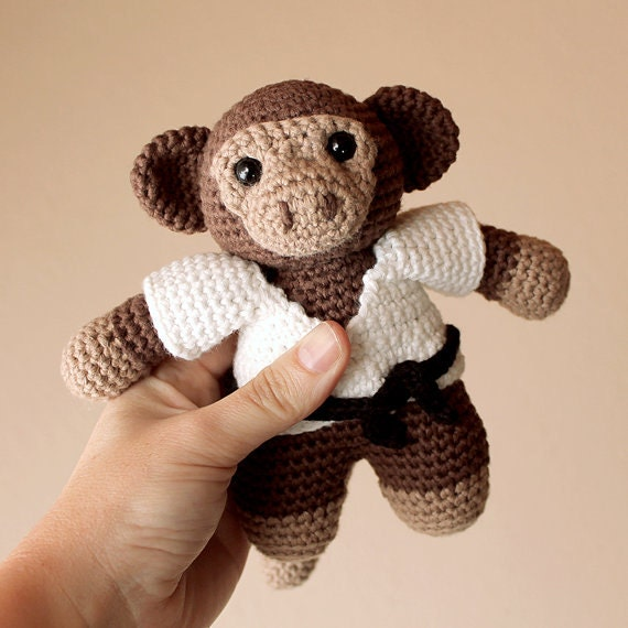 Monkey - Animalius. Crochet Doll, Amigurumi Toy, Crocheting, Made to Order, Animal Crochet, Cute Children Gift, Nursery Doll, Art Crafts