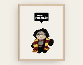 Harry Potter: Expecto Patronum! Amigurumis Prints, Printable Art, Children Decor, Inspirational Quote, Cute Decor, Geek Gift, Digital File