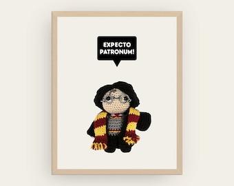 Harry Potter: Expecto Patronum! Amigurumis Prints, Printable Art, Children Decor, Inspirational Quote, Cute Decor, Geek Gift, Digital File