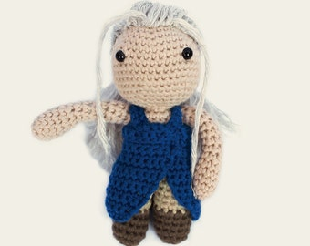 Daenerys - Game of Thrones. Amigurumi Pattern PDF, DIY, Crafts, Crochet Pattern, Khalessi, Doll, Geek, Gift, TV Series, Instant download