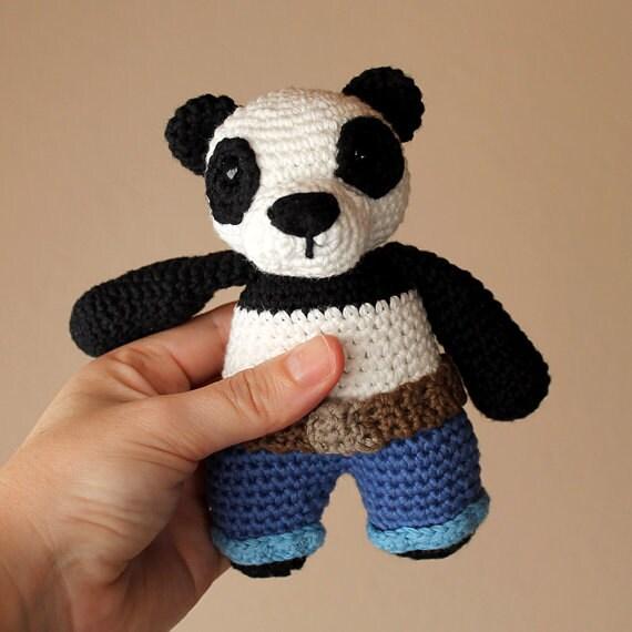 Panda - Animalius. Crochet Doll, Amigurumi Toy, Crocheting, Made to Order, Animal Crochet, Cute Children Gift, Nursery Doll, DIY, Art Crafts