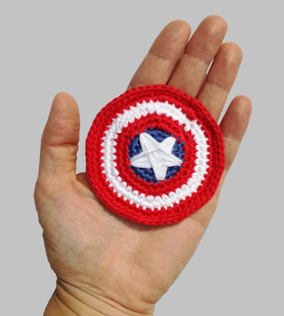 Captain America's Shield Applique - Appliques Patterns. Crochet Pattern PDF, Nursery Crochet, Marvel, Instant Download, Accessories Pattern