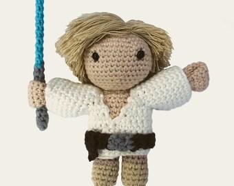 Luke Skywalker - Star Wars. Amigurumi Pattern PDF, DIY, Crafts, Crochet Pattern, Jedi, Rebel Alliance, Geek, Gift, Cinema, Instant download