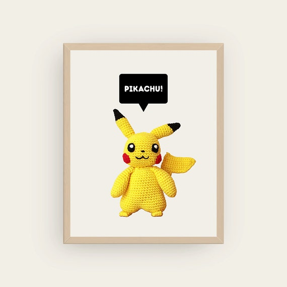 Pikachu. Amigurumis Prints.