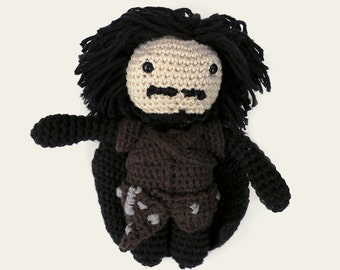 Jon Snow - Game of Thrones. Amigurumi Pattern PDF, DIY, Crafts, Crochet Pattern, Winterfell, The Wall, Stark, Doll, Geek Gift, TV, Series