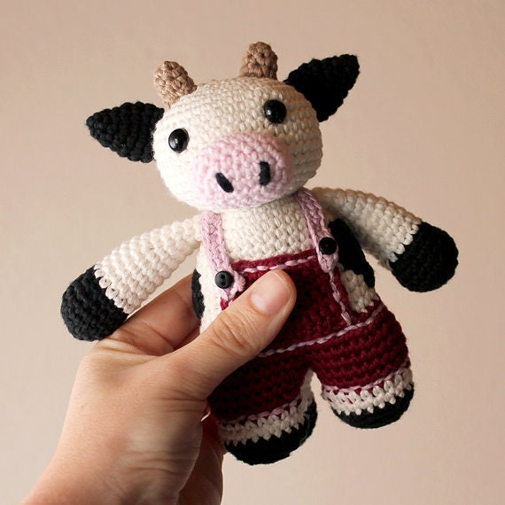 Cow - Animalius. Crochet Doll, Amigurumi Toy, Crocheting, Made to Order, Animal Crochet, Cute Children Gift, Nursery Doll, DIY, Art Crafts