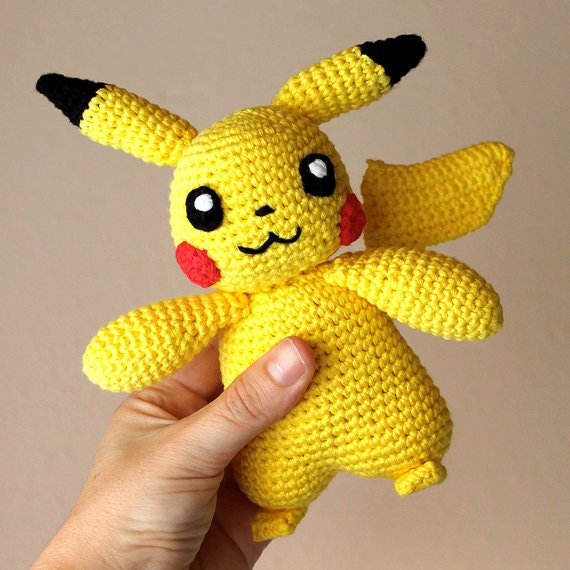 Pikachu - Pokemon. Crochet Doll, Amigurumi Toy, Crocheting, Made to Order, Animal Crochet, Cute Children Gift, Nursery Doll, DIY, Art Crafts
