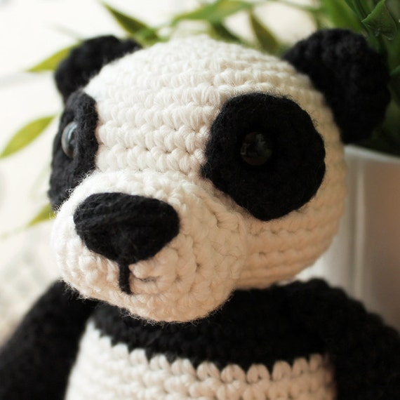 Panda - Animalius. Amigurumi Pattern PDF, Animal Toy, Teddy Nursery Doll, Bear Crochet Pattern, Cute Children Gift, DIY, Instant download