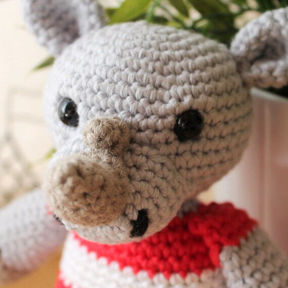 Rhino - Animalius. Amigurumi Pattern PDF, Animal Toy, Nursery Doll, Africa Crochet Pattern, Cute Children Gift, DIY, Crafts, Digital File