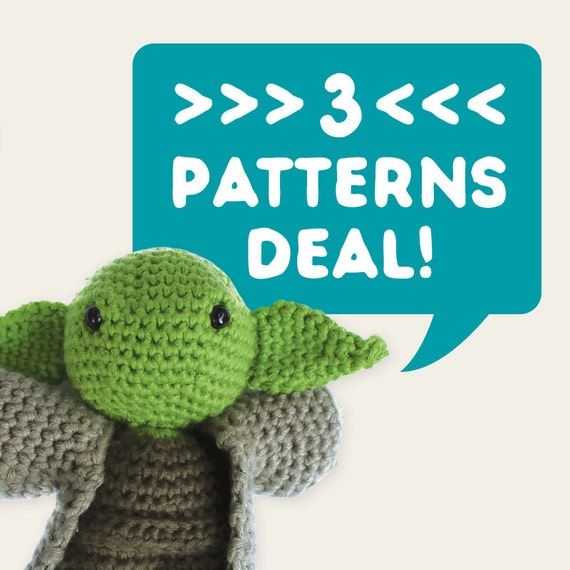 3 Patterns Deal. Special Offer, Discount Price, Set of 3. Amigurumi Pattern PDF.
