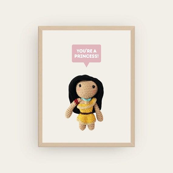 Pocahontas: You're a Princess! Amigurumis Prints.