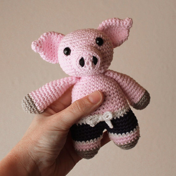 Piggy - Animalius. Crochet Doll, Amigurumi Toy, Crocheting, Made to Order, Animal Crochet, Cute Children Gift, Nursery Doll, DIY, Art Crafts