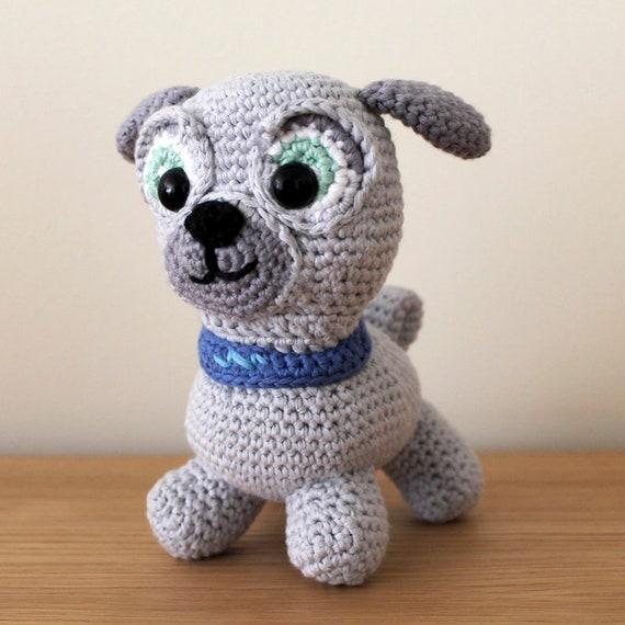Bingo - Soft Toys. Amigurumi Pattern PDF, Puppy Dog Pals, Puppy Doll, Pug, Pugster, Nursery Crochet, Kids Gift, Dog Toy, DIY, Digital File