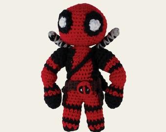 Deadpool - Marvel Comics. Amigurumi Pattern PDF, DIY, Crochet Pattern, Hero, Wade Winston Wilson, Doll, Geek, Gift, Movie, Instant download