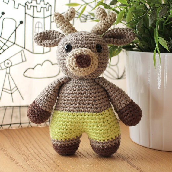 Reindeer - Animalius. Amigurumi Pattern PDF, Animal Toy, Deer Nursery Doll, Nice Crochet, Cute Children Gift, DIY, Crafts, Instant download