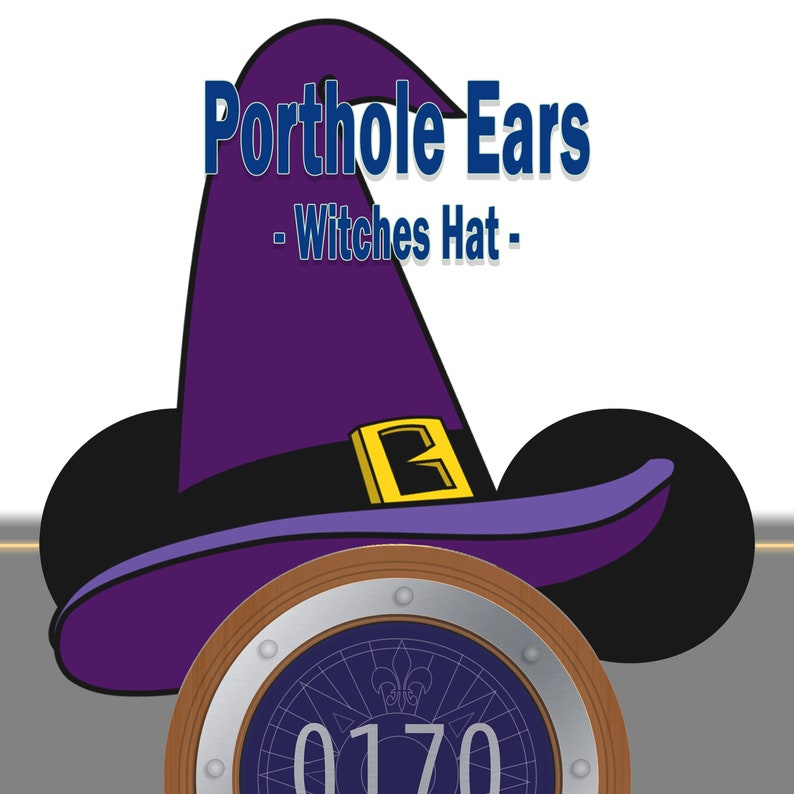 Stateroom Door Porthole Ears  Witches Hat image 0