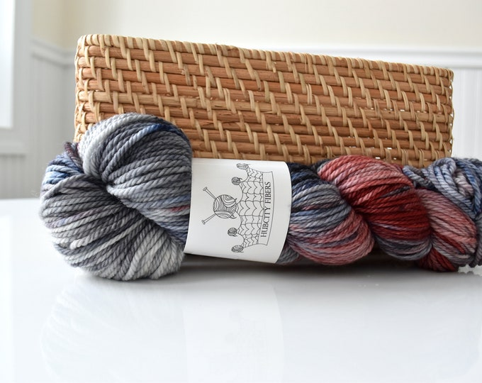 "AWESOME: ""MASSABLUE"" hand dyed yarn, handpainted yarn, superwash merino yarn,highland wool, dk yarn"