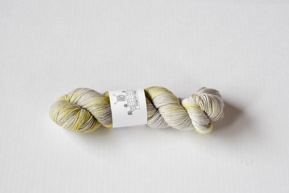 "SQUISH: ""icelandic minimalism"" hand painted yarn, handpainted yarn, superwash merino yarn, nylon, sock yarn, kettle dyed yarn, fingering"
