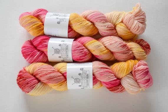 "FOOTLOOSE: ""strange fruit "" hand painted yarn, handpainted yarn, superwash BFL yarn,nylon, sock yarn, kettle dyed yarn, fingering"