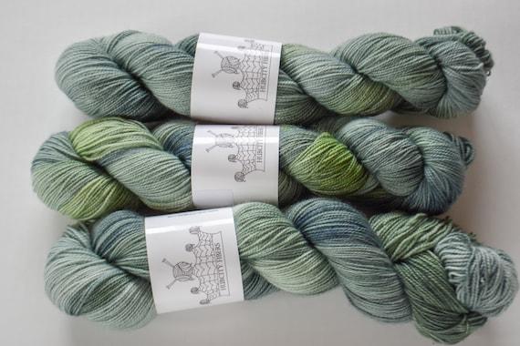 "FOOTLOOSE: ""Komorebi"" hand painted yarn, handpainted yarn, superwash BFL yarn,nylon, sock yarn, kettle dyed yarn, fingering"