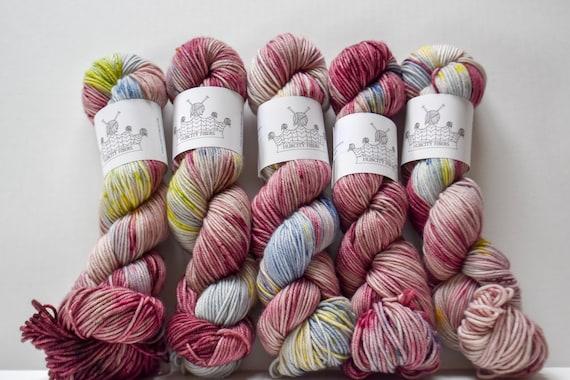 """DELICIOUS: """"Sex Dream"""" hand dyed yarn, handpainted yarn, superwash merino yarn,cashmere, dk yarn, kettle dyed yarn,DK"""