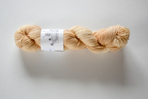 "INDULGE: ""Nude"" hand dyed yarn, hand painted yarn, superwash merino yarn, nylon, sock yarn, kettle dyed yarn, fingering"