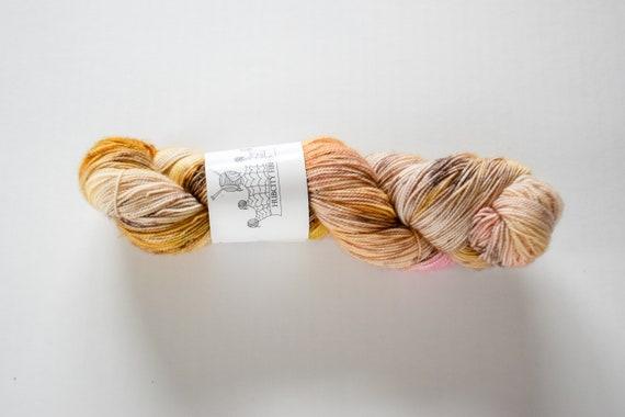 "INDULGE: ""searching for truffles"" hand painted yarn, handpainted yarn, superwash merino yarn, nylon, sock yarn, kettle dyed yarn, fingering"