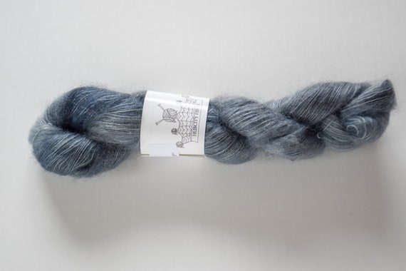 """MOHAIR: """"Lady Grey Tea"""" hand dyed yarn, handpainted yarn, superwash merino yarn,cashmere, dk yarn, kettle dyed yarn,DK"""
