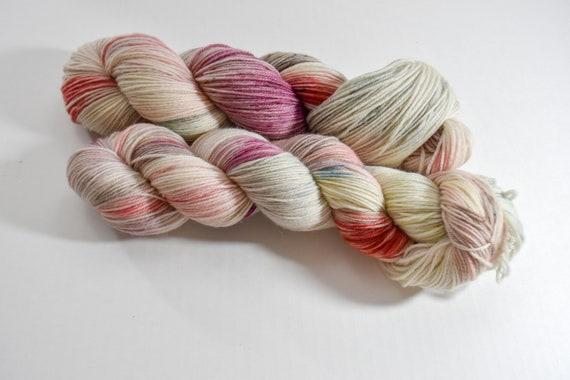 "INDULGE: ""ruby cocoa bean"" hand dyed yarn, superwash merino yarn, nylon, sock yarn, kettle dyed yarn, fingering"
