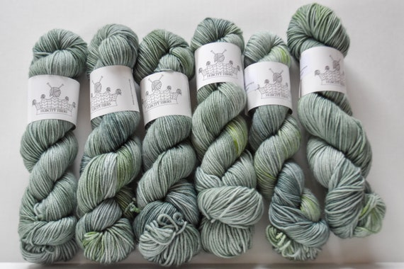 "DELICIOUS: ""komorebi"" hand dyed yarn, handpainted yarn, superwash merino yarn,cashmere, dk yarn, kettle dyed yarn,DK"