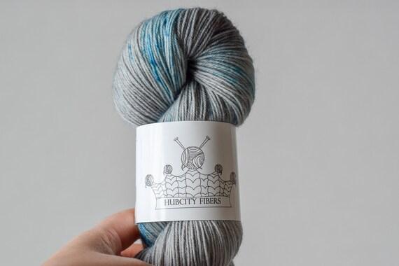 """DELICIOUS: """"cry me a river"""" hand dyed yarn, handpainted yarn, superwash merino yarn,cashmere, dk yarn, kettle dyed yarn,DK"""