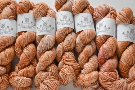 "DELICIOUS: ""Skin Deep"" hand dyed yarn, handpainted yarn, superwash merino yarn,cashmere, dk yarn, kettle dyed yarn,DK"