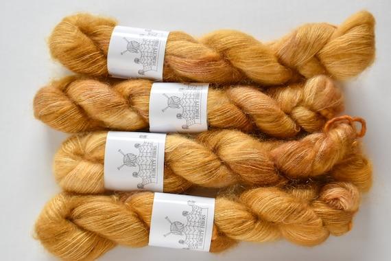 "MOHAIR: ""Chestnuts Roasting"" hand dyed yarn, handpainted yarn, superwash merino yarn,cashmere, dk yarn, kettle dyed yarn,DK"