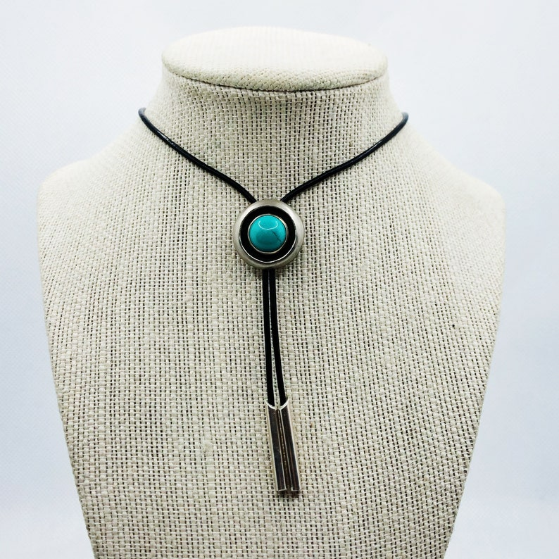 Turquoise Micro Bolo-Tie Necklace
