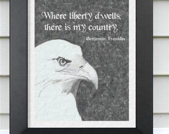 Where Liberty Dwells Pencil Drawing