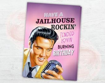 Elvis Card Presley Birthday Greeting King Of Rock N Roll Jailhouse DIGITAL