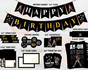 Queen Birthday Party Supplies, Queen Band Party Decorations, Queen  Decorations, Thank You Tags, Queen Band, Freddie Mercury, DIGITAL ONLY