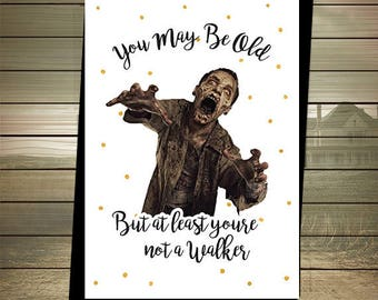 Walking dead card etsy the walking dead birthday card walker zombies happy birthday zombies birthday card the walking dead card digital download walker m4hsunfo