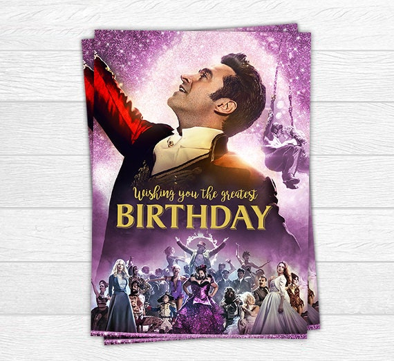 The Greatest Showman Birthday Card Birthday Card Greatest ...