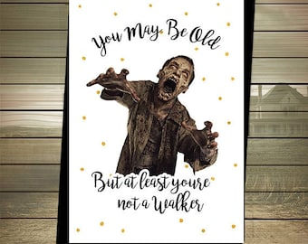 The Walking Dead Birthday Card - Walker - Zombies - Happy Birthday - Zombies Birthday Card - The Walking Dead Card - Digital Download Walker