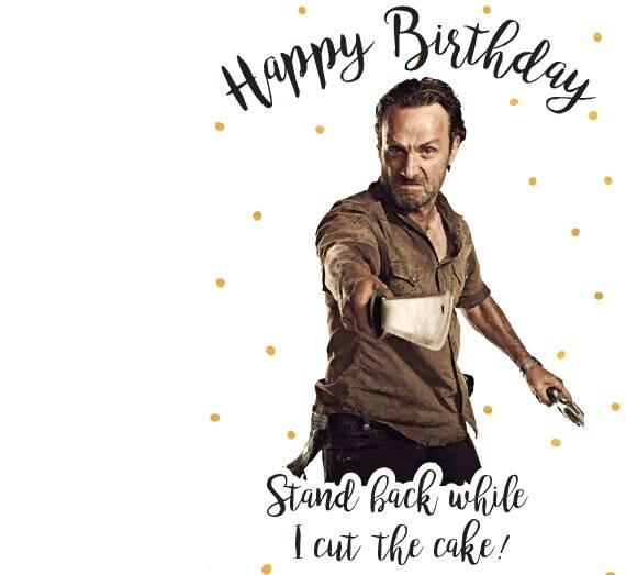 The Walking Dead Card Birthday Card Rick Grimes Happy Etsy