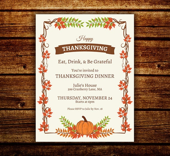 thanksgiving flyer thanksgiving invite fall festival invite etsy