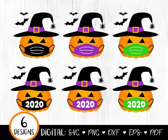Pumpkin Wearing Face Mask SVG, Quarantine Pumpkin SVG, 2020 Halloween svg, Pumpkin, Social Distancing, Funny, Pumpkin Face, Cricut, Png, dxf